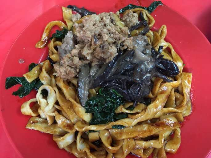 Kueh Teow and Chinese mushrooms-min