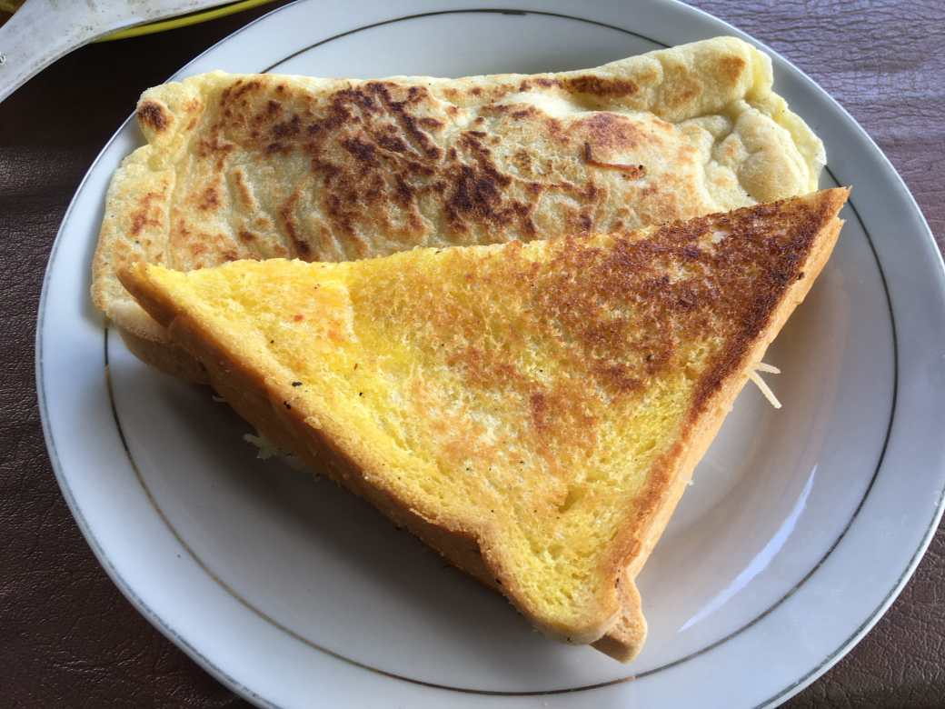 Cheese sandwich - Banana pancake