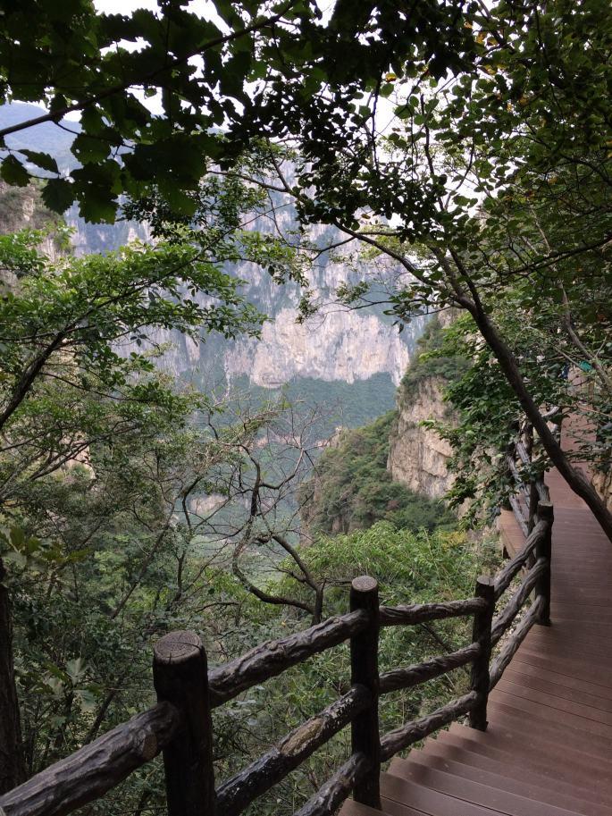 Glass Walk Yuntaishan et vue sur la vallée (2)