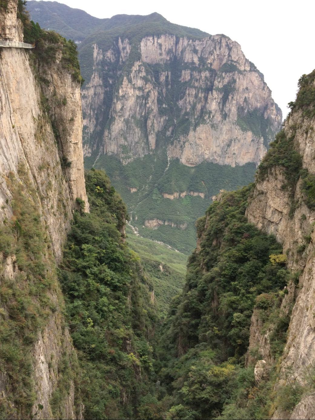 Glass Walk Yuntaishan et vue sur la vallée (3)