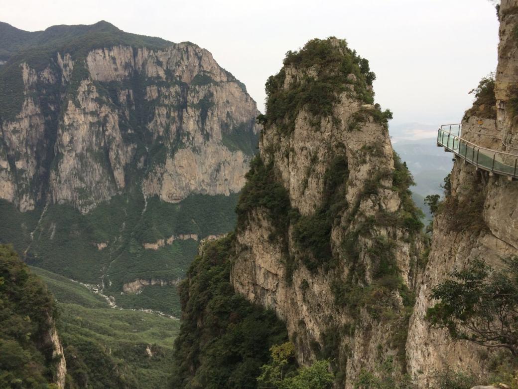 Glass Walk Yuntaishan et vue sur la vallée (4)