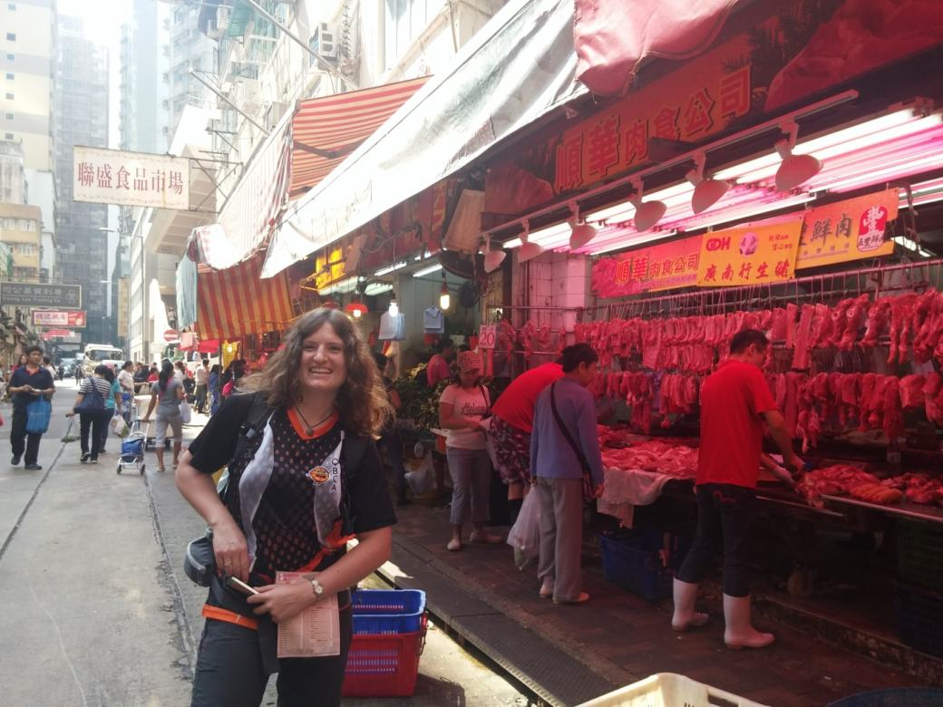 Meat stall Hong Kong